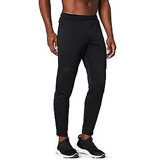 Peak Velocity Men's Trackster Athletic-Fit Pant, black/black, Large