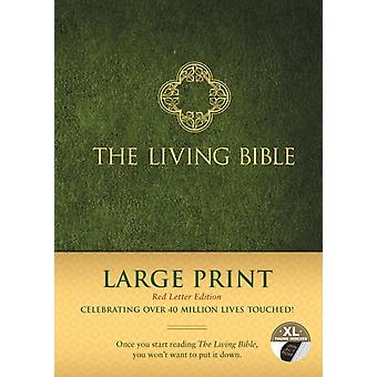 Living Bible Large Print Red Letter Edition Indexed by Tyndale