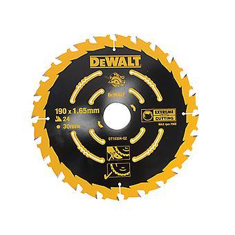 DEWALT Circular Saw Blade 190 x 30mm x 24T Corded Extreme Framing DEWDT10304QZ