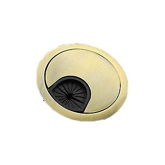 Kak Zinc Alloy Desk Wire Hole Cover Base Computer Grommet Table Cable Outlet Port Surface Line Box- Organizer Furniture Hardware