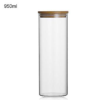 Large Capacity Food Storage Glass Jar -  Sealed Kitchen Storage Bottles Cans
