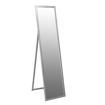 Lattia seisova täyspitkä pukeutumispeili - Metallirunkoinen Makuuhuone Huonekalut - Hopea - 136,5cm
