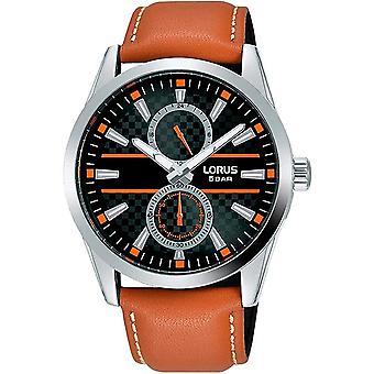 Lorus Herre Kjole Multidial Watch med Tan Strap (Model Nr. R3A61AX9)