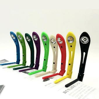 Portable Led Reading Lamp Energy-saving Led  With Clip Folder Of Lights  Random Color (random Color)