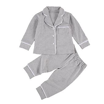 Solid Cotton Infant Pajamas Sleepwear Sets