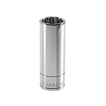 Facom Bi-Hexagon Deep Socket 3/8in Drive 12mm FCMJ12LA