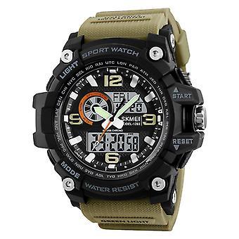 Waterproof Men Dual Display Alarm Countdown Sport Watch