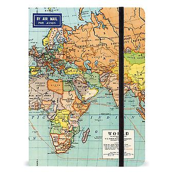 Cavallini World Map Single Large Notebook Journal Diary Gift