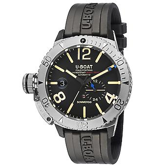 U-Boat 9007-A Sommerso Black Rubber Strap Wristwatch