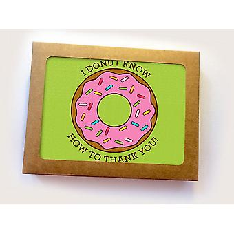 I Donut Know How To Thank You! Printed Cards