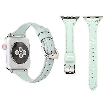 Simple Fashion Genuine Leather T Type Watch Strap for Apple Watch Series 3 & 2 & 1 38mm