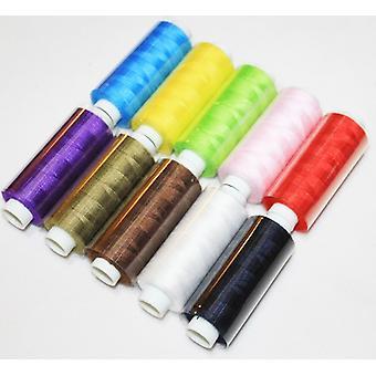 10 חתיכות חייט Multicolor כותנה תפירת חוט מאגרים   שרשורי איכות 10 X 500 מ' 100% פוליאסטר
