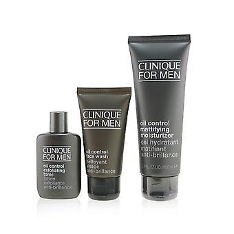 Geweldige huid voor mannen olie controle 3 stuks set : face wash 50ml + exfoliërende tonic 30ml + mattifying moisturizer 100ml 255935 3pcs