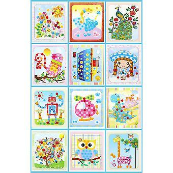 Button puzzel stickers handgemaakt