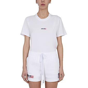Autry Tsxwa06w Women's Valkoinen Puuvilla T-paita