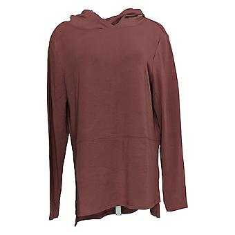 Anybody Women's Plush Terry Hooded Pullover Purple A372107