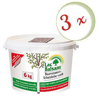 Sparset: 3 x FRUNOL DELICIA® Etisso® LacBalbal Tree Trunk Protection Kleur Wit, 6 kg