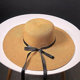 Straw Hats, Ma'am Leisure Go On A Journey Bow Straw / Hat Outdoors Sun Hat