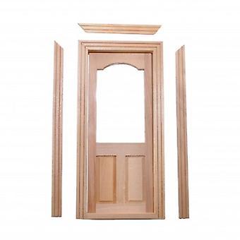 Dolls House Classic Wooden Half Glazed Interior Door Builders Diy 1:12 Miniature