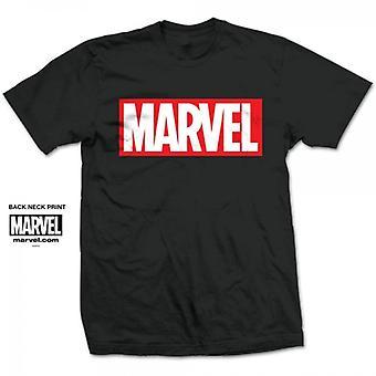 Marvel Comics Marvel Box Logo Mens Black T Shirt Medium