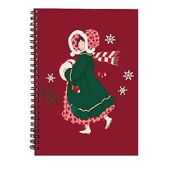 Holly Hobbie Christmas Dress Spiral Notebook