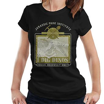 Jurassic Park Institute I Dig Dinos Fossil Recovery Unit Frauen's T-Shirt
