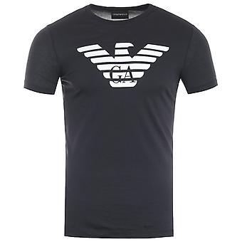 Emporio Armani Eagle Logo T-Shirt - Navy