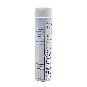 Liquid Keratin Keratin Infusing Brightening De Frizz Shampoo 8 OZ