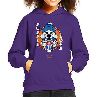 Slush Puppie Love Cartoon Kid's Hooded Sweatshirt