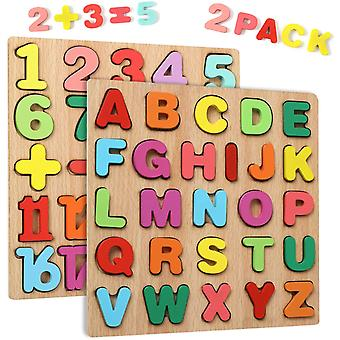 Alphabet Number Wooden Puzzles Set For Children