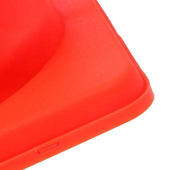 Διπλώνοντας οδική ασφάλεια προειδοποιητικό σημάδι κυκλοφορίας κώνος πορτοκαλί αντανακλαστική ταινία