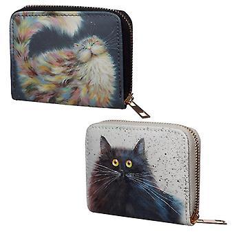 Tamanho pequeno em torno da carteira - kim haskins design gato 2 fornecido