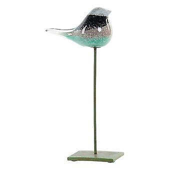 Figure décorative Dekodonia Bird Metal Crystal (15 x 7 x 32 cm)