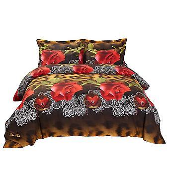 Conjunto de cubierta de edredón, ropa de cama floral king size, Dolce Mela - Pasión Dm709K