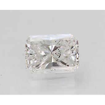 Certified 1.01 Carat D SI1 Radiant Enhanced Natural Loose Diamond 6.8x4.9mm
