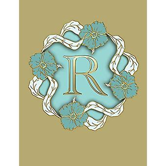 "R - 100 Pages 8.5"" X 11"" Monogram Notebook College Ruled Lin"