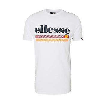 Ellesse Triscia 1156 Contrast Stripe Graphic Print T-shirt - Blanc