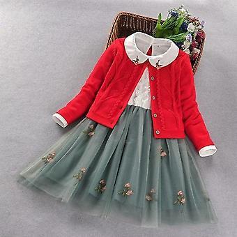 Elegante Kleidung Set Frühling Herbst Kinder Prinzessin 2pcs Anzug