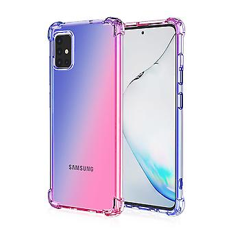 Shockproof TPU case for Samsung Galaxy A71 - blue&Rose