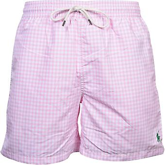 Polo Ralph Lauren Gingham Check Zwemshorts, Carmel Pink