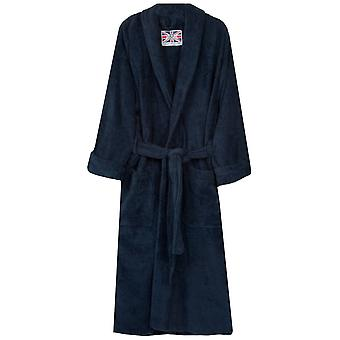Bown of London Terry Towelling Dressing Gown - Navy