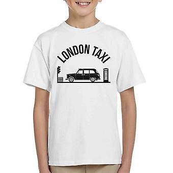 London Taxi Company TX4 på Traffic Lights Kid's T-Shirt