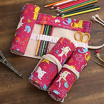 Canvas Roll Pencil Case For Student