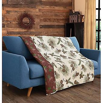 Spura Home Tropical Forest Pines Primative Transitional Quilted Throw