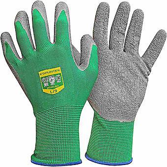 GRNTEK Gartenhandschuhe 5 Paar aus Polyesterfaser mit Latexbeschichtung, geeignet fr den privat