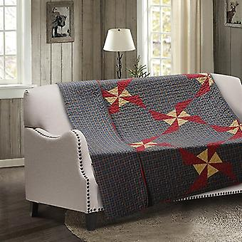 Spura Home Patchwork In the Country: Blue Transitional Quilted Throw