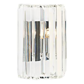Crystal Wall Lys poleret Chrome, 1x G9