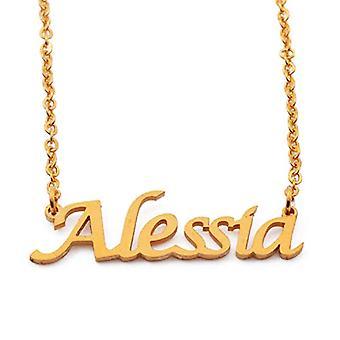 KL Kigu Alessia - Naisten kaulakoru henkilökohtainen nimi, trendikkäitä koruja, lahjaidea tyttöystävälle, äidille, siskolle
