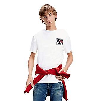 Tommy Jeans Tjm fram och bak grafisk tee skjorta, vit, s man