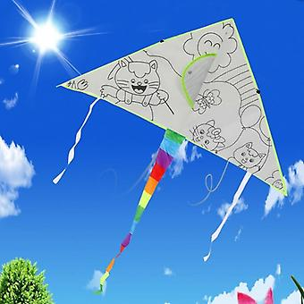 Diy Painting Kite With Pigment, Flying Outdoor Toy